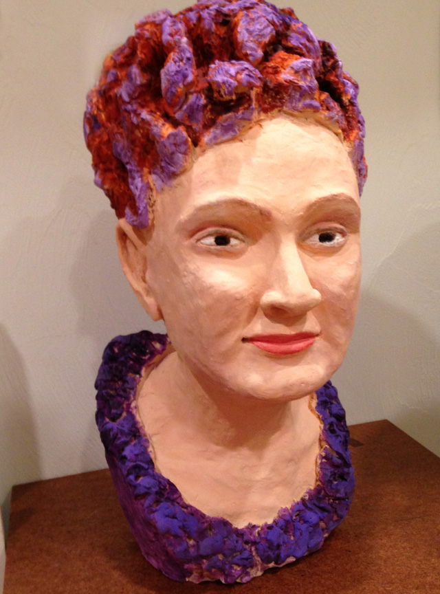 painted bust